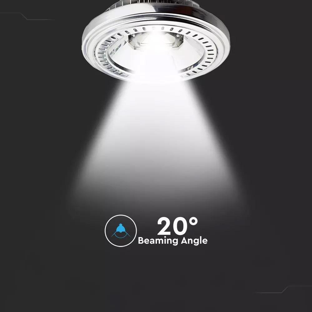 Spot LED AR111, 15W, 12V, Beam 20, Sharp Cip, Alb cald