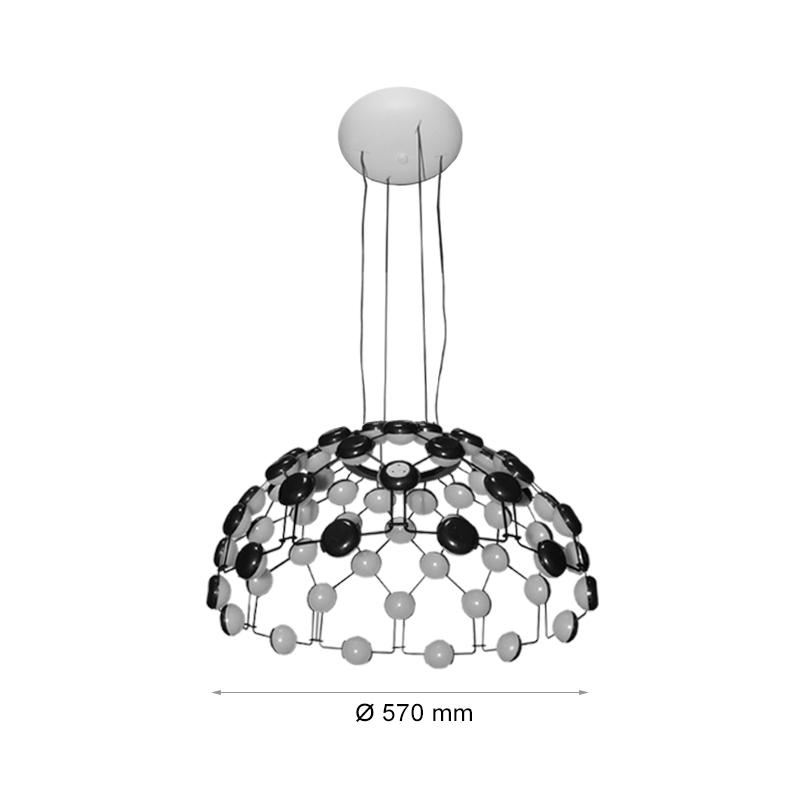 Pendul 108W, Lumina Naturala 4000K, Ø570
