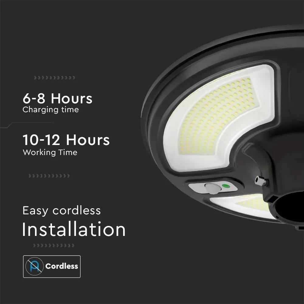 Lampa solara LED 10W cu Senzor, Lumina Naturala 4000K, IP66