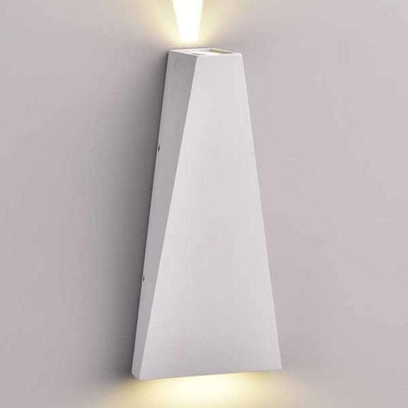 Lampa de perete 6W, IP54, Lumina Naturala 4000K, Gri
