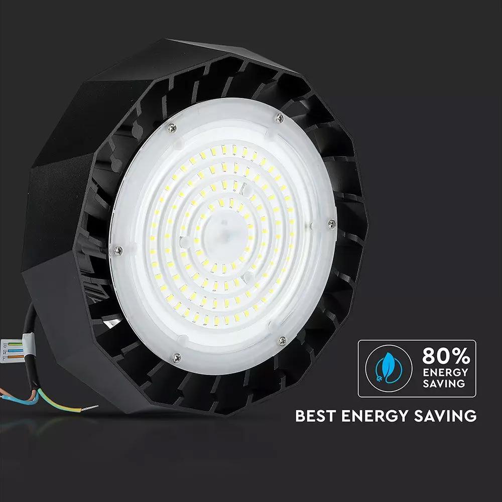 High Bay UFO LED SAMSUNG Cip & Driver 100W, 90' Negru 120LM/WATT 6400K