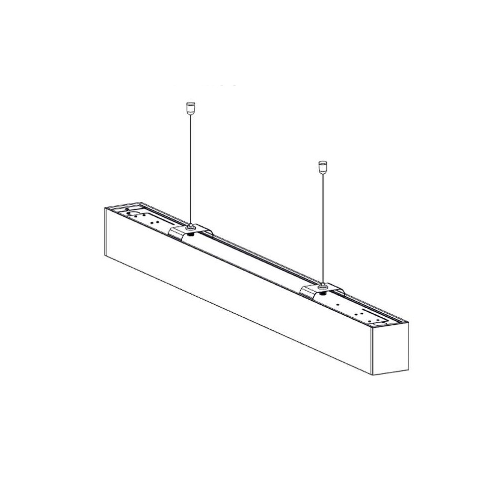 Lampa Liniara LED Suspendata 40W, IP20, Lumina Naturala 4000K, Corp Negru