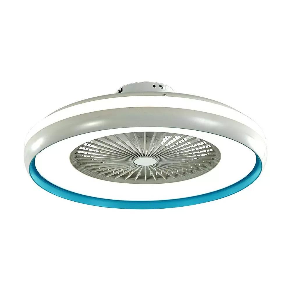Ventilator Tavan cu Iluminare Control RF 3 in 1, 45W Motor Blue Ring