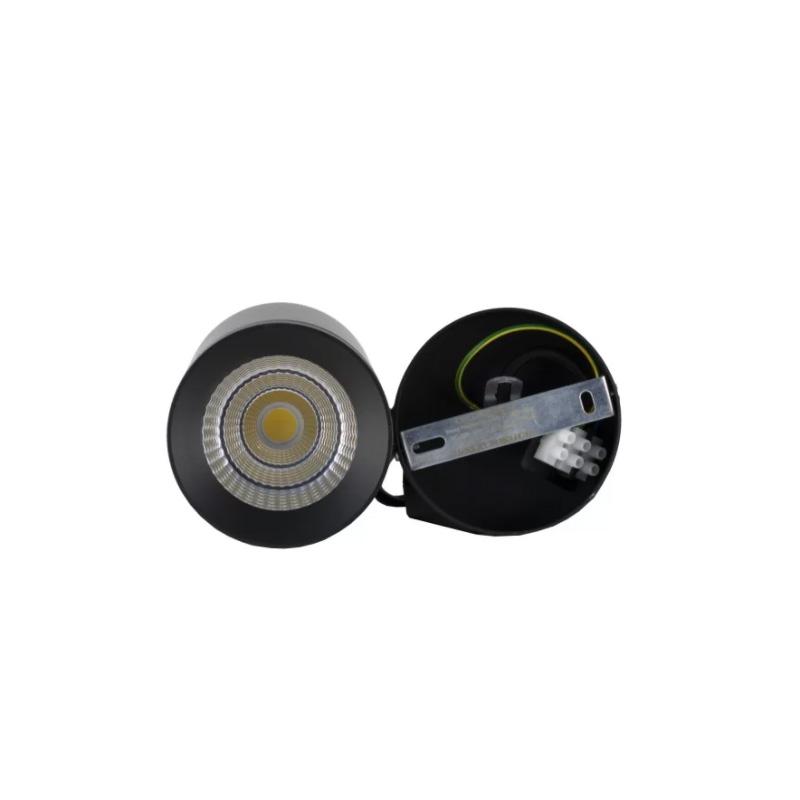 Pendul cilindric suspendat 20W, Lumina Naturala 4000K, Corp Negru