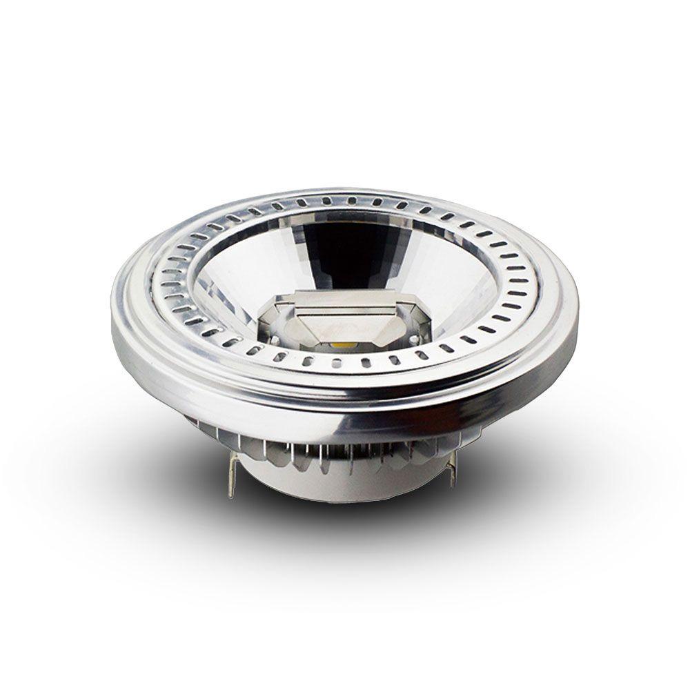 Bec LED Spot 15W - G53, AR111, 12V, Unghi 20 COB Chip 4500K
