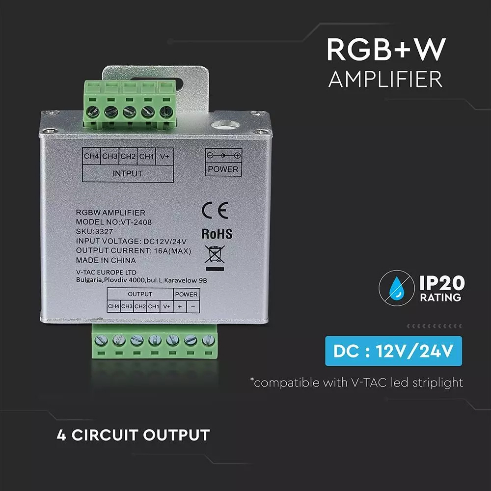 RGB+W Amplificator pentru Banda LED 2159