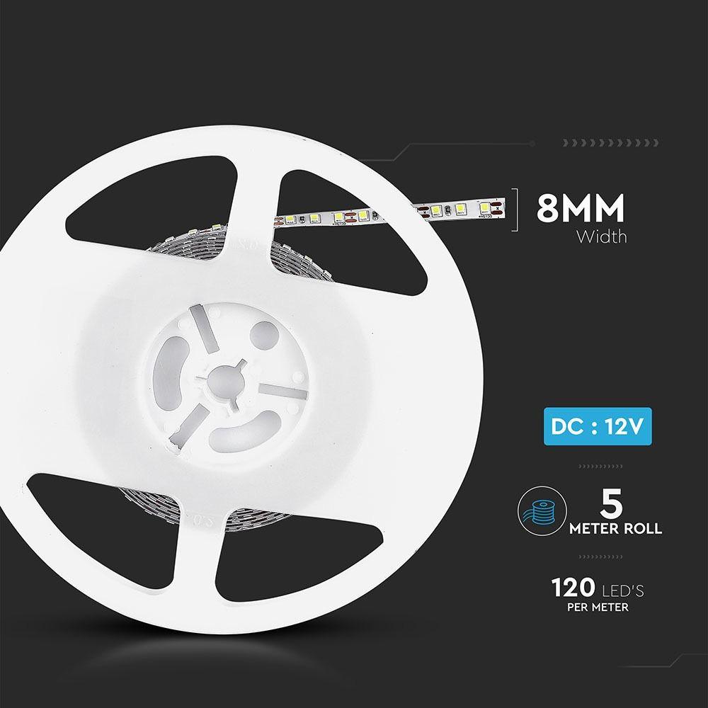 Banda LED SMD3528 - 7.2 W/m 120 LED/m 6400K IP20