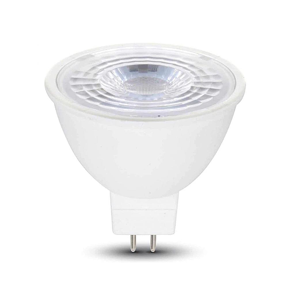Bec Spot LED COB 5W, MR16, GU5.3, 12V, lumina alba calda