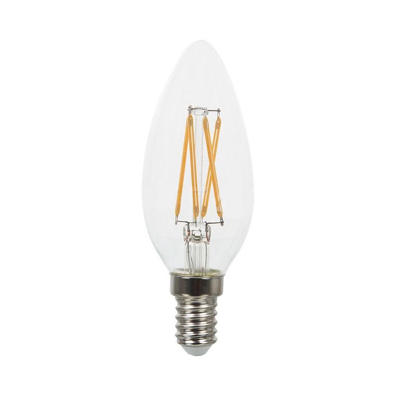 Bec LED - 4W, Filament, E14, Candle, 2700K